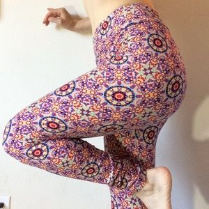 Rainbow Kaleidoscope Lularoe O/S Leggings Skinny